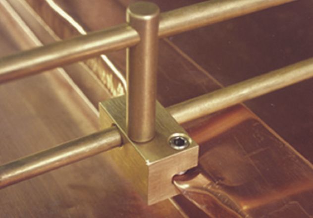 S-5!® SnoFence™ Brass on Copper Batten Seam - Snow Guard System