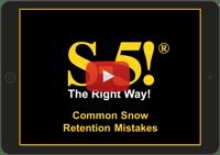 Snow Retention Mistakes Video