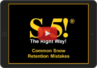 Snow Retention Mistakes Video